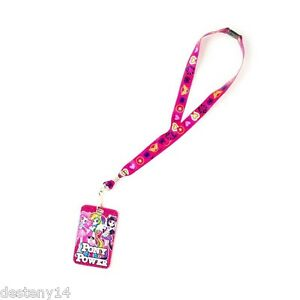 My Little Pony Pony Power ID Holder Lanyard Keychain Hasbro Pink Faux Leather