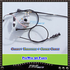 YAMAHA PW50 CARBURETOR/CARBY THROTTLE CABLE CHOKE CABLE Y-ZING  PEEWEE 50CC