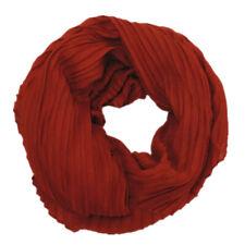 Damen Schal Tuch Kupfer Rot Falten Muster Plissee Stola Konkaves Trapez SH-5406