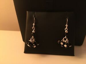 Silver Swarovski Bicone Crystal Earrings - NEW