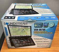 "Soundstream VRNDD7HB 2-DIN Bluetooth DVD/CD/AM/FM Car Stereo w/ Dual 7"" Screens"