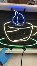 "New Coffee Cafe Open Neon Light Sign 20""x16"" Beer Gift Bar Real Glass Lamp"