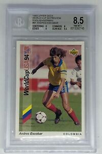 1993 Upper Deck Preview Andres Escobar English/German 1994 World Cup BGS 8.5 RC