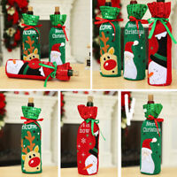 Sequins Cover Decoration Snowman/Santa Red Wine Bags Christmas Bottle Claus
