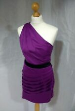 Womens Lypsy Purple Cold Shoulder Dress Size 12 Fitted Very Flattering Mauve