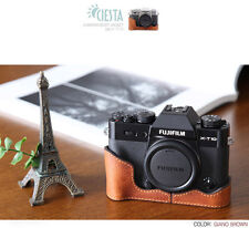 Ciesta Leather Half Case Fuji XT20 XT10 Giano Brown