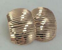Delicate Vintage Original Rose Gold Earrings 585 14KT , Solid Gold 585 14KT
