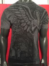 """AFFLICTION LARGE """"TOMBSTONE""""ANGEL,MMA,BIKER,TATTOO,INK,GOTHIC,CHRISTIAN SHIRT"""
