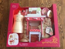 """Our Generation It Seams Perfect Sewing Machine Play Set Table for 18"""" Dolls New"""
