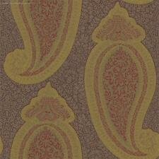 3 rolls of Zoffany 'Kashmir' wallpaper ZTRA06002 Chocolate/Gold (paisley design)