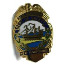 NEW HAMPSHIRE Department Of Safety State Vintage Police Badge Lapel Hat Pin