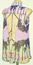 T by BETTINA LIANO CollaredRearKeyholeSheerSleeveless Sz6
