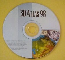 3D Atlas 98 Software CD Windows 95 Planet Earth USA Road Maps Geography Geology