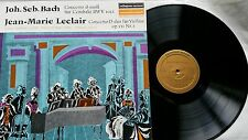 Leclair BACH Concertos Leonhardt Maier 1st Harmonia Mundi 30699 Presque comme neuf 200gr. vinyl