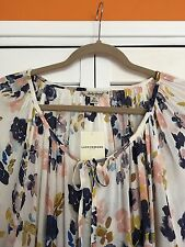 3X - NEW Nordstrom Lucky Brand Floral Peasant Top Womens Plus White