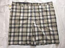 Van Heusen Beige Plaid Shorts Men's Tag Size 44 Cotton Casual  Flat Front NWT