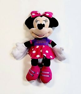 "Disney 2015 Minnie Mouse 25"" Large Plush Stuffed Animal Doll Toy Polka Dot Dress"