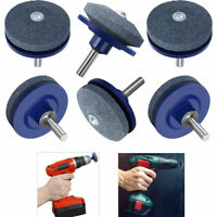 4pcs Mower Blade Drill Lawnmower Lawn Mower Sharpener For Power Drill Hand Drill