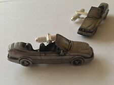Saab 9.3 Convertible 3D classic car Vehicle pewter effect cufflinks ref228
