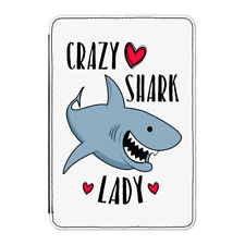 "Crazy Shark Lady Case Cover for Kindle 6"" E-reader - Funny"