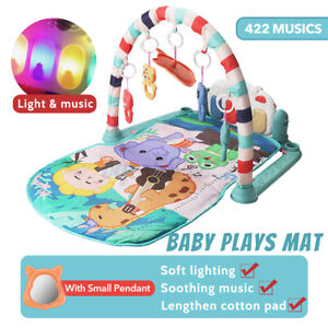 Soft Baby Mat Gym Floor Kick and Play Mat Musical Activity Center Piano Toy Gift