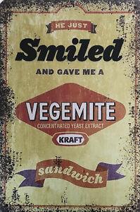 VEGEMITE Garage Rustic Look Vintage Tin Signs Man Cave, Shed & Bar SIGN