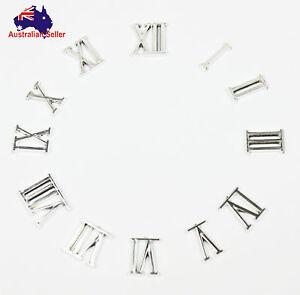 Silver Roman Numerals Clock Repair Numbers Kit DIY 22mm 1 x Whole Set New