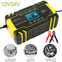 Automatic Electronic Car Battery Charger 12V/24V Fast/Trickle/Pulse Modes 8 AMP