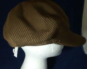 Womens flat cap peak hat Peaky Blinders country Hunting dark brown fashion NEW