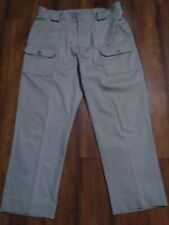 TILLEY ENDURABLES Safari PANTS Adventure Clothing Sz 38x26.5 Khaki FLAT FRONT
