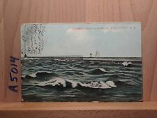 Divided back post card, Ontario Beach Harbor, Rochester, New York
