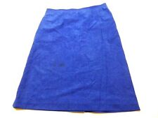 Jeanne Durrell Womens Size 10 Blue Felt Skirt Good Condition