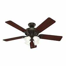 Hunter 53067 Studio Series 52-inch New Bronze Ceiling Fan with Five Walnut/Cherr