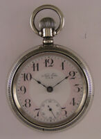 Vintage Fully Serviced NEW ERA USA 1900 ANTIQUE Pocket Watch Pink Dial Perfect
