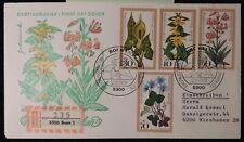 Germany 1978 FDC postal history woodland flowers registered good used