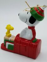 Snoopy Peanuts Christmas Ornament  SNOOPY & WOODSTOCK/Vintage 50A