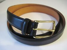 MARTIN DINGMAN For FAIRCLOUGH & CO Black Calfskin Brass Buckle Belt 100/ 40 USA