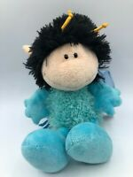 Small NICI Blue Butterfly Plush Kids Soft Stuffed Toy Animal Doll Wild Teddy