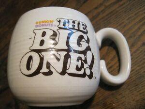 Vtg Dunkin Donuts The Big One Retro Coffee Mug Heavy Duty Ribbed Restaurant Ware
