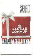 RARE / CARTE CADEAU - SPIRIT / VETEMENT - MODE BOUTIQUE COMMERCE TEXTILE / CARD