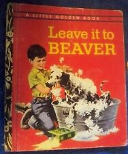 (LES3) 1974 AU little golden book leave it to Beaver name inside cover