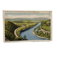 Berkeley Springs West Virginia Cacapon View Linen Vintage Postcard