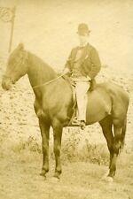 Horseman Portrait Meudon France Old Photo Delaporte 1875