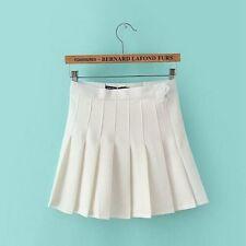 Women Girls Tennis High Waist Plain Flared Pleated Short Skirt Shorts XS-XL