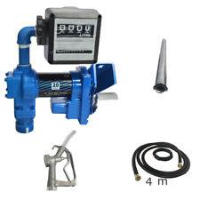 12v 20gpm Fuel Transfer Pump Diesel Gasoline Anti Explosive With Oil Meter