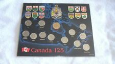 1867 1992 CANADA 125th ANNIVERSARY OF CONFEDERATION 13 COIN PROVINCE SET
