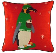 17 inch Pengi Penguin Christmas Pre Filled Xmas Cushion