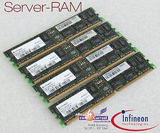 RAM MEMORIA SERVER INFINEON 1GB DDR HYS72D128320GBR-7-B CL2 ETC REG PC2100 -S55