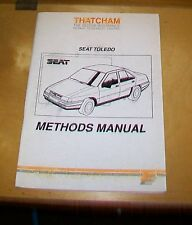 SEAT Toledo Thatcham carrozzeria metodi manuali. 1993