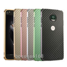 Premium Metal Aluminum Hard Bumper Carbon Fiber Shockproof Back Cover Case #F